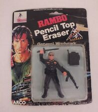 Vintage 1986 ARCO Rambo General Warhawk Pencil Top Eraser NEW Fast Shipping LOOK