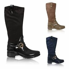 Women's Wellington Block Zip Synthetic Boots