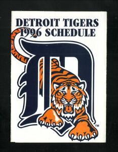 Detroit Tigers--1996 Pocket Schedule--Budweiser