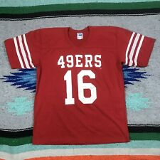 VTG Rawlings S.F. San Francisco 49ers Single Stitch Red Shirt Sz (L) 42-44 Adult