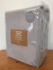 """West Elm Light Gray Linen Cotton Blend Black Out Curtain w Pole Pocket 96""""x96"""""""