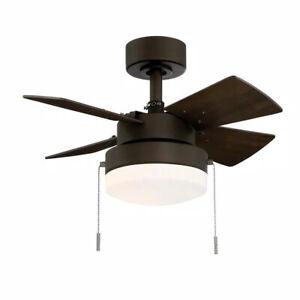 Hampton Bay Metarie II 24 in. Indoor Oil Rubbed Bronze Ceiling Fan with Light