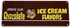 Chocolate Ice Cream Gum Sign Retro Food Candy Metal Decor Sign