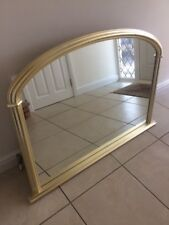 """Large over mantle mirror from John Lewis in Champagne Gold 50"""" wide x 34"""" high"""