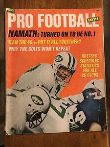"1971 Dell Pro Football Magazine Joe Namath ""Namath: Turned On To Be No.1"" Jets"