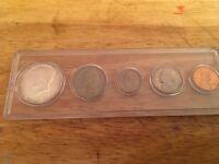 1968 Mint Set, Birthyear Set in Whitman Holder; 5 Coins; Half Dollar - Penny