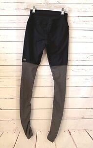 ALO YOGA Size S Ruched Stretch Leggings Black Gray Activewear Gym Yoga