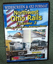 "20322 TRAIN VIDEO DVD ""NORTHWEST OHIO RAILS VOL 2""  2014"