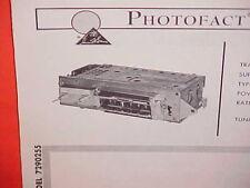 1965 CADILLAC ELDORADO CONVERTIBLE DEVILLE FLEETWOOD 75 AM RADIO SERVICE MANUAL