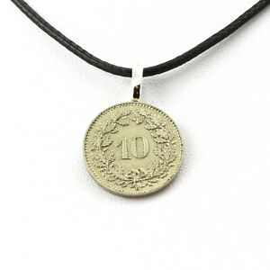 Necklace Coin Switzerland 10 Cents Head Of Libertas