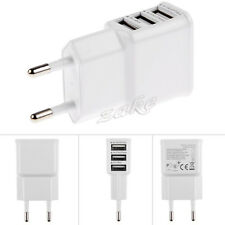 New 3 Ports USB Wall Travel AC Charger Adapter For iPhone Samsung iPad EU Plug