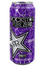 Rockstar Energy Drink Pure Zero Grape 16oz. - CHOOSE YOUR PACK