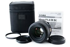 Sigma 30mm f/1.4 HSM EX DC Lens w/ Case For Canon EF From JAPAN EXCELLENT+++