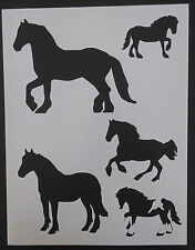 Draft Horse Horses Country Farm Silhouette 8.5
