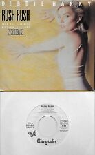 DEBBIE HARRY Rush Rush rare promo soundtrack 45 with PicSleeve  BLONDIE SCARFACE