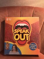 SPEAK OUT GAME Funny Mouth Piece Challenge Family Card Game 16yrs+, 4-5 Players