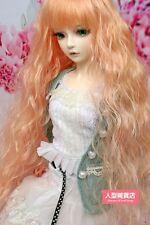 BJD muñeca peluca de pelo 7-8 pulgadas 18-20cm Naranja 1/4 MSD DOD STUI E39 Dz