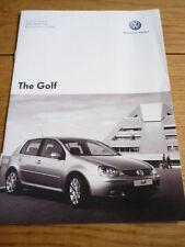 VOLKSWAGEN VW GOLF ( incl. GTI & R32 ) PRICE LIST BROCHURE 2006 jm