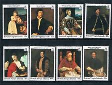 Br Virgin Is 1988 Birth of Titian SG 667/74 MNH