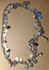 LOVELY BEADED COIN CHAIN STYLE NECKLACE (J70)