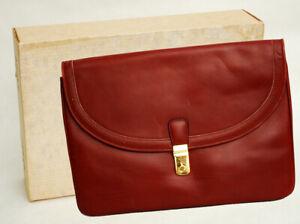 Vintage Mark Cross Leather Portfolio Briefcase Laptop Case Scully Italia Italy
