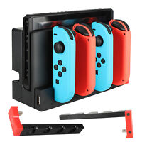 Charger Charging Station Secure Storage Stand Dock For Nintendo Switch Joy-Con