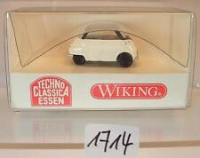 Wiking 1/87 Nr. 808 04 BMW Isetta 4-Rad weiß/sw Techno Classica Essen OVP #1714