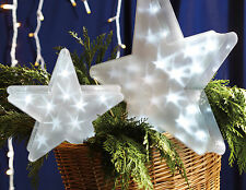 """Led Lighted Stars 12"""" and 15"""" 4th Of July Americana New Battery Operated"""