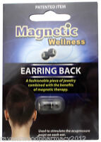 Magnetic Wellness Earring Back ::1 Pair::  Accupressure Pain Relief