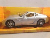 FERRARI 599 GTB grigio scala 1/18 HOT WHEELS