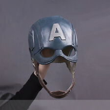 US SHIP! Cosplay Helmet The Avengers Captain America Steven  Soft Latex Mask