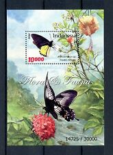 Indonesia 2016 MNH Flora & Fauna Butterflies 1v S/S Insects Flowers Trees Stamps