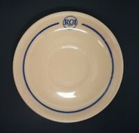 """RCA Restaurant Saucer Cafeteria Lenape Scammell's Trenton Pre-50s 5-1/2"""" Camden"""