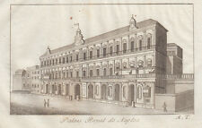 Napoli, Accademia Reale delgli Studi, Università, 1824  acquaforte al bulino