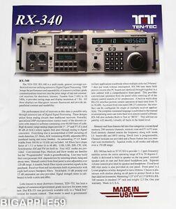 Ten-Tec RX-340 Super Receiver Advertising Brochure