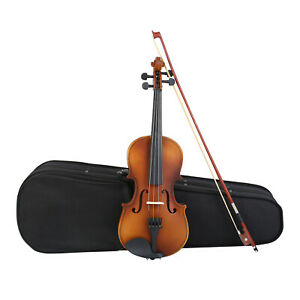 1/2 Akustik Violine Geige Set mit Koffer Bogen Anfängergeige Kindergeige SAMGER