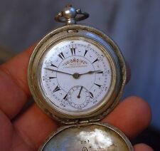 MIZAN CONSTANTINOPLE otoman/turkish pocket watch hunter silver WORKING,serviced