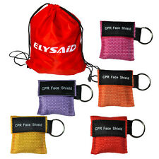 250 PCS 5COLORS CPR MASK KEYCHAIN POUCH ONE WAY VALVE FIRST AID CPR FACE SHILED