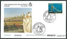 1991 VATICANO VIAGGI DEL PAPA BRASILE BRASILIA - SV2