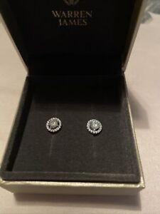 Warren James Silver Stud Earrings 8mm