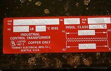 Tierney AC1000C-8V2A Transformer 1000VA 480V AC1000C - NEW