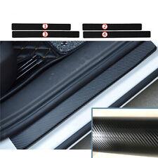 4PCS Car Door Pedal Threshold Carbon Fiber Protector Sticker Anti Scratch Trim