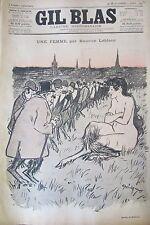 JOURNAL GIL BLAS N° 15 de 1893 LEBLANC DESSIN STEINLEN PARTITION MUSIQUE XANROF