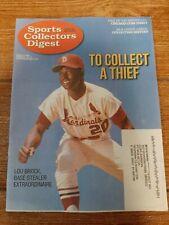2020 Scd Sports Collectors Digest Lou Brock St. Louis Cardinals-Nice Magazine-Nm