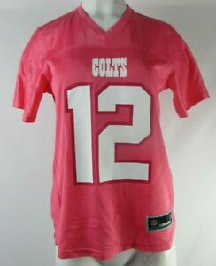 Indianapolis Colts Women's NFL Pink #12 Tom Brady Jersey (Flawed)