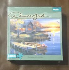 "Puzzle Autumn At The Lake By Darrell Bush 1000 pc 27"" x 20"" Buffalo Games New"