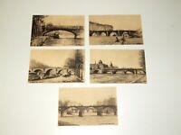 "River Seine France Various Vtg 5.5"" French Postcard Lithographs"