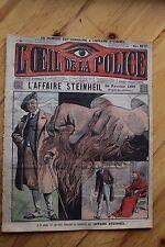 Rarissime L' OEIL DE LA POLICE 1A/47 L' Affaire Steinheil