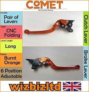 Moto Guzzi 1200 Sport 2007-2013 [Pliable Long Orange] [ Comet Course Levier]