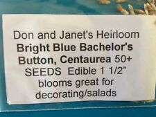 Blue Bachelor Buttons seeds, beautiful and edible. Also as dried flower 50+ seed
